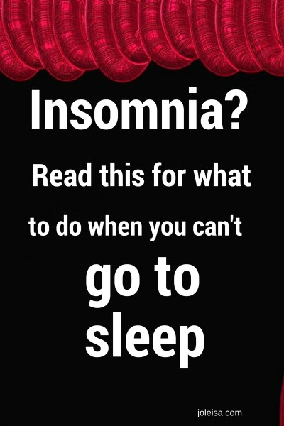 Insomnia: What to do when you can't sleep