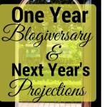 Would you like to propose a toast to the girls as they successfully complete their first year as bloggers? It's an anniversary celebration.