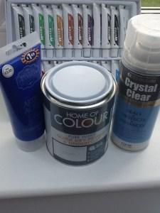 Craft supplies for bottle art
