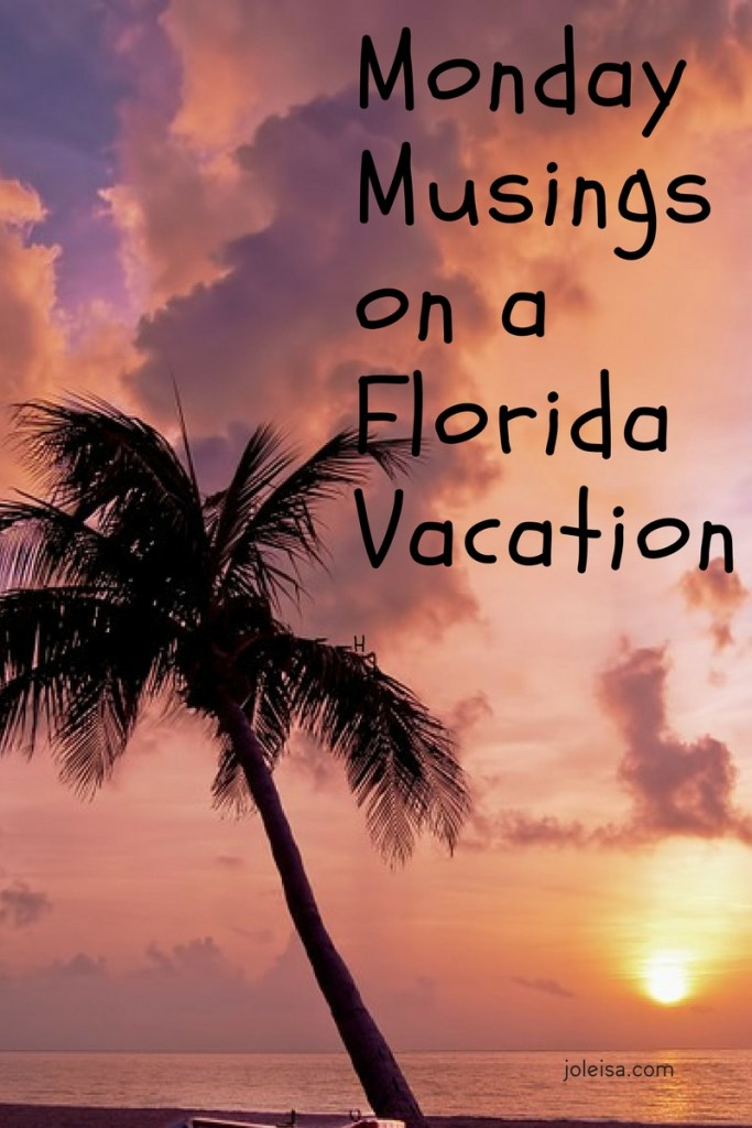 So I'm on my Florida Vacation. So much to think about, see, and do. Have a look to see some of what I've done with my time so far.