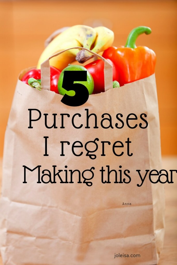 This year I regret buying a few things. Has it happened to you too?