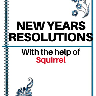 New Years Resolutions for my Family With the Help of Squirrel