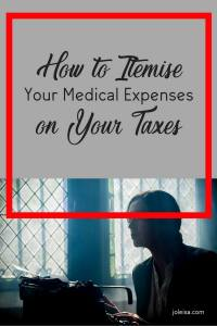 A lot of people are nervous about filing taxes and it is not easier when you have to deal with medical expenses too. Read this post on how to itemise medical expenses on your taxes.There's a free spreadsheet to help too.