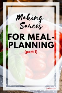 Making sauces is a breeze and helps so much with your meal planning and meal preparation. This is how I make the perfect tomato sauce that's used for several dishes.