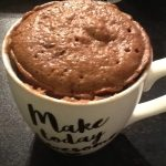 Frugal things, cake in a cup
