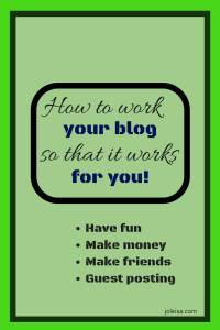 Blogging is fun but to monetise it you have to learn how to work your blog so that it works for you. Blogging courses, affiliate marketing, guest posting, and sharing ideas are all ways to make your blog work for you