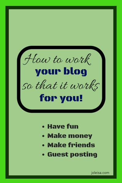 How to Work Your Blog to make it Work for You