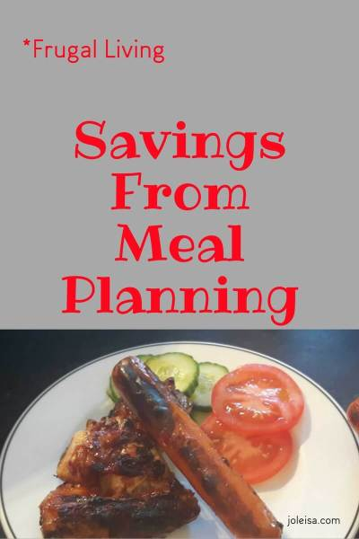 Savings From Meal Planning