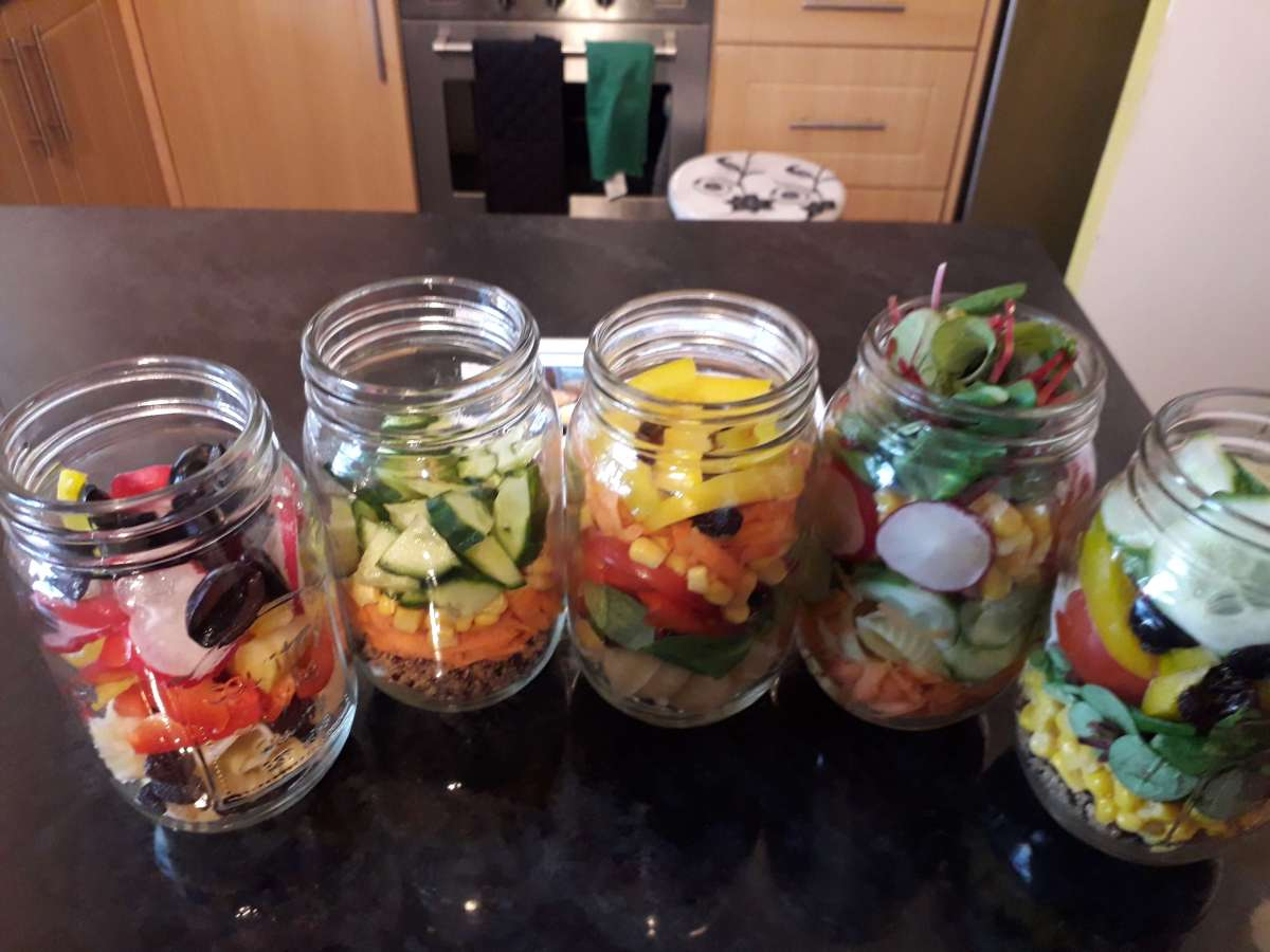 salad in a jar meal ideas for fussy eaters