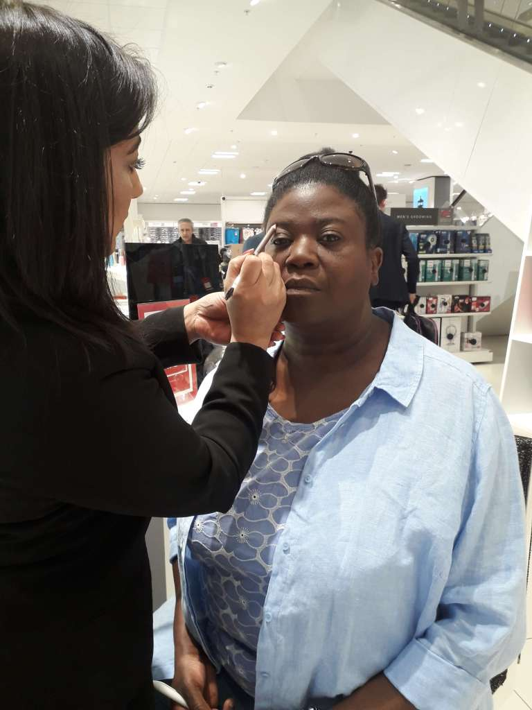 Getting my makeup done for filming on the Channel 5 program Shop Smart Save Money. This opportunity came after we set up a blog and was contacted on our Facebook page.