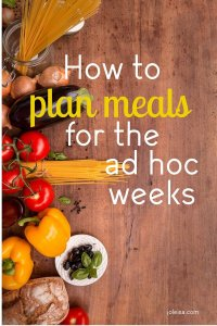 There will be times in your family when it will be rather difficult to plan ahead for your meals. Read to see useful tips on what to do when you have to do meal planning for the ad hoc week. It comes with its difficulties but it is not at all impossible to plan for.