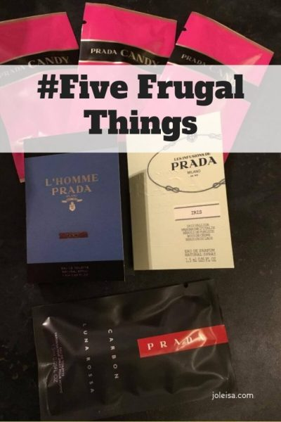 Frugal Sights and Deeds this week