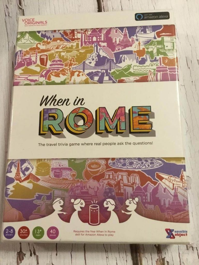 Introducing the first ever game you can play with Alexa. If you have an Amazon Echo, then you can play the game When in Rome. So family friendl & exciting