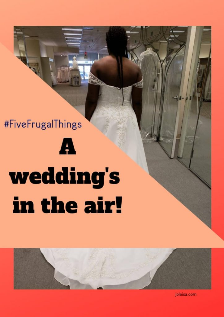 See what we have been doing this week to help our sister to plan a frugal /low cost wedding. Charity shop finds are great, and so is planning ahead.