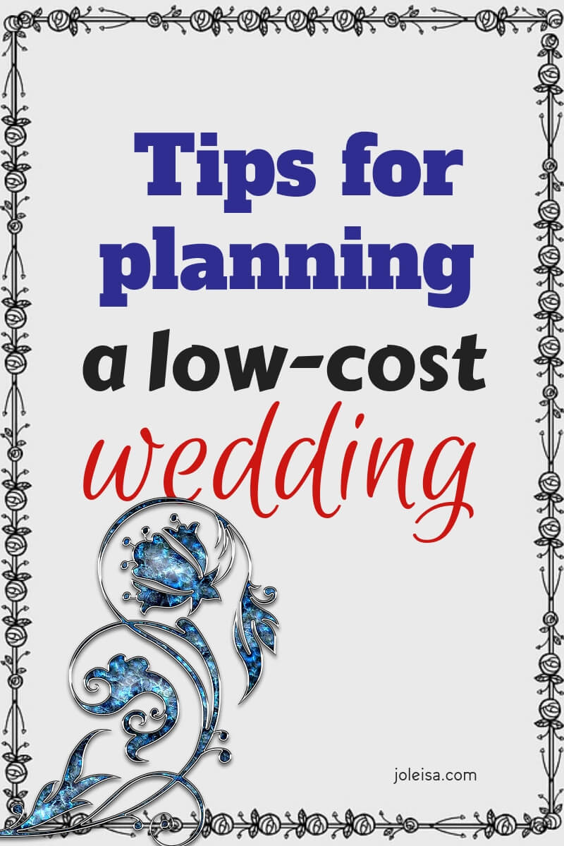If you are planning a low cost weding, here are some ideas and tips for you to consider. Stick to your budget and don't pay more than you have to.