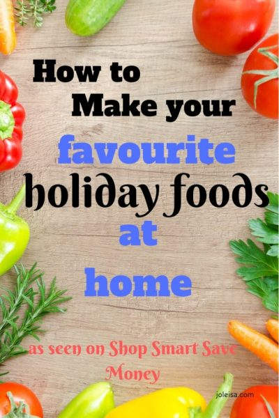 Holiday Food Ideas and Recipes as seen on Shop Smart Save Money