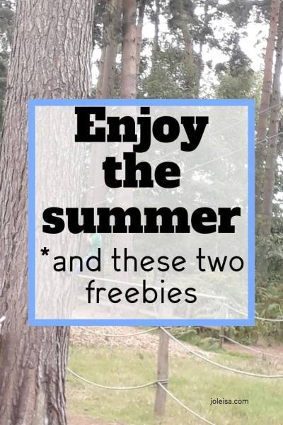 Enjoy the Summer Plus Two Super Freebies for you