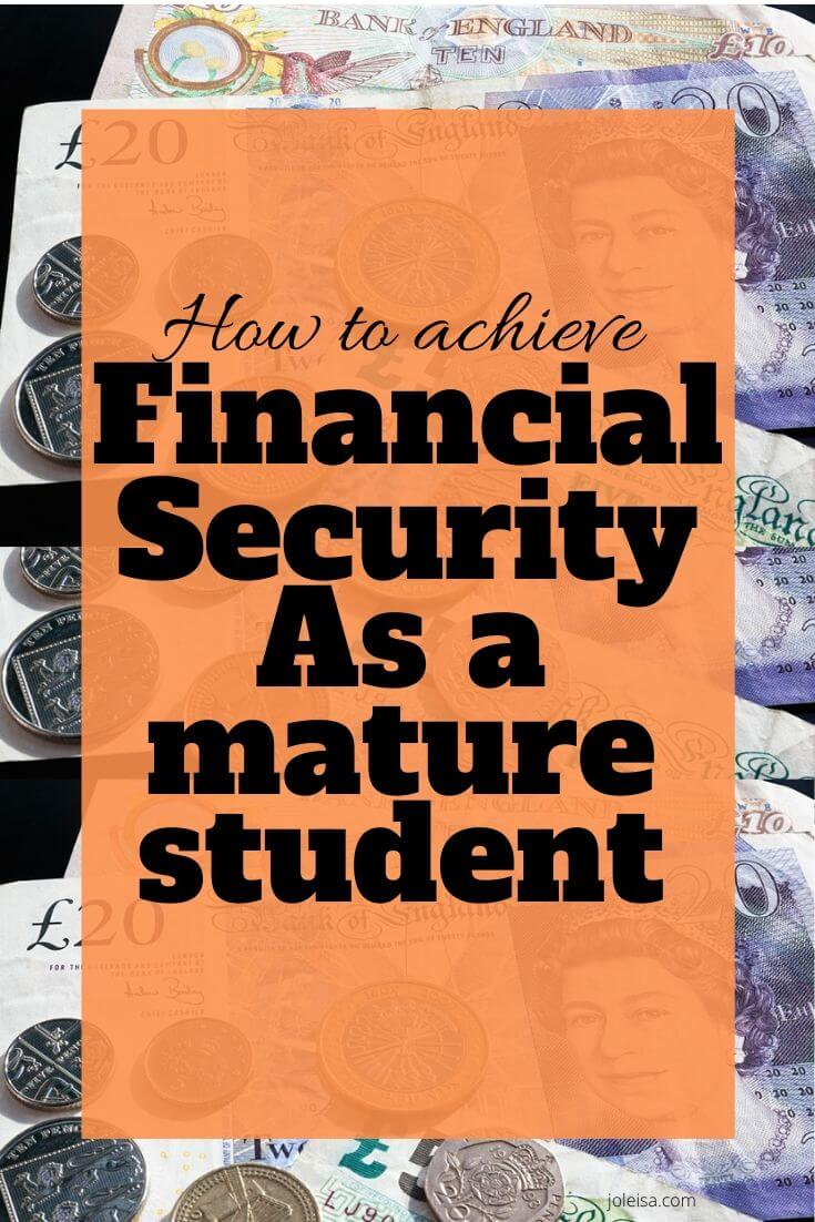 fianancial security as a mature student