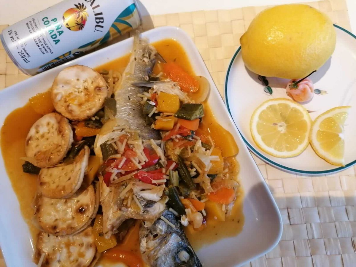 Hellshire style steamed fish and okra