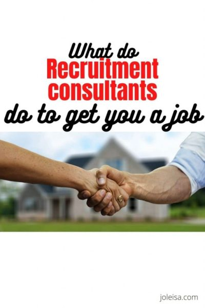 What do Recruitment Consultants do to get you a job?