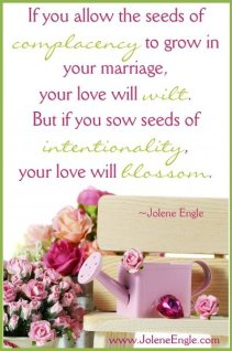 Sow seeds of intentionality into your marriage!