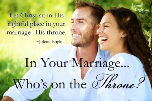 In your marriage...who's on the throne