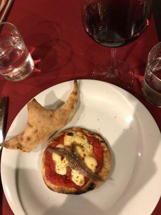 Mini-pizza aux anchois