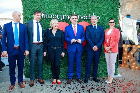 Mladen Komsic, Dragan Kovacevic, Mirjana Cagalj, predsjednik HGK - Luka Burilovic, Luka Zaher i Tomislava Ravlic
