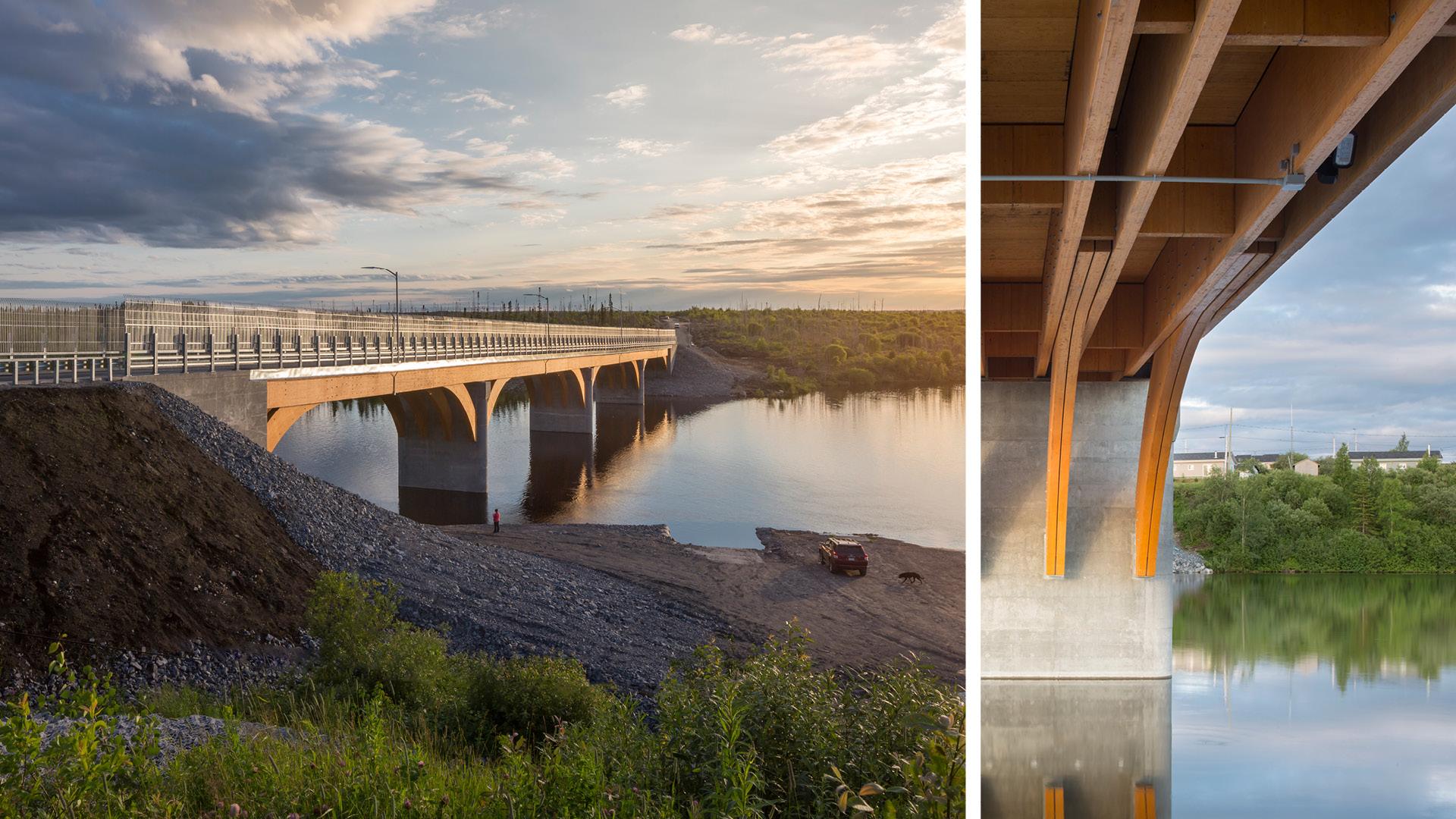 Un pont de bois  de 160 m  Mistissini  Joli Joli Design