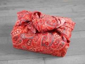 furoshiki arabesque rouge