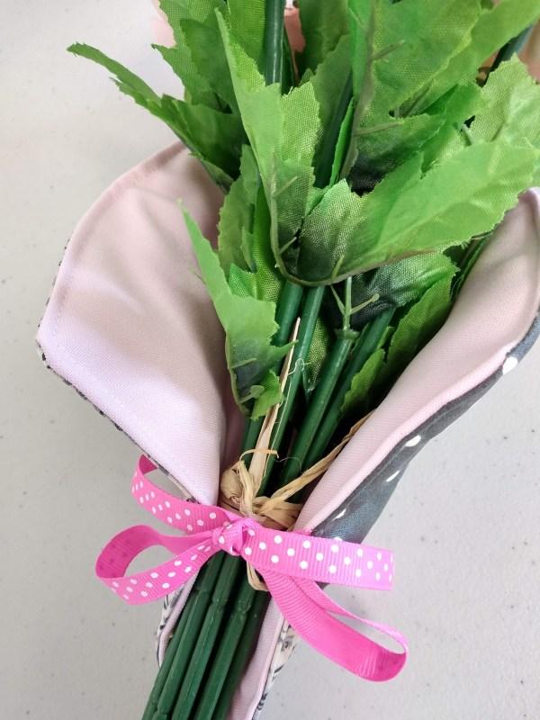porte bouquet gris vue intérieure