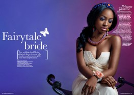 Black Hair Magazine, April/May 2014 issue - Fairytale Bride Editorial - in Jolita Jewels
