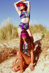 Life's a beach editorial for Seen In The City magazine, featuring Jolita Jewellery's braided necklaces and crystal cuff