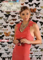 Painted Carnival necklace and Kniginia earrings on the cover of February issue of Cocktail Lovers magazine