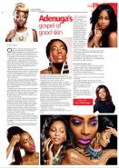Make up artist's Joy Adenuga feature in Guardian, showcasing her work, including some images from the shoot with Jolita Jewellery