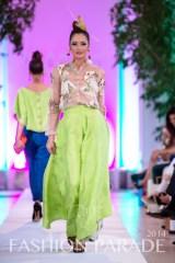 Fashion Parade 2014 - in hand-painted Karaleva earrings by Jolita Jewellery, Zara Shahjahan clothes