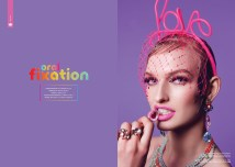 Hedonist magazine, summer 2015 Oral Fixation editorial with Jolita Jewellery pieces.