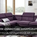 Az Abútor kanapéáruház honlapképe