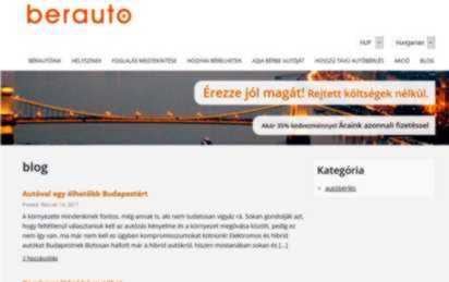 A Bérautó hivogató honlapja