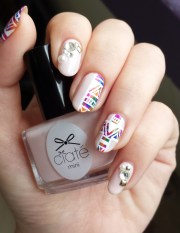 watercolour aztec nail art jolene