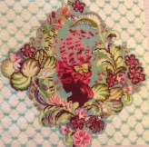 Tula Pink's Parisville Needlepoint.  Marie - Completed November, 2013.