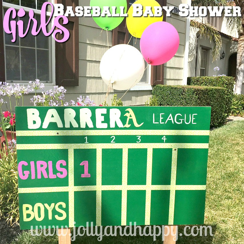Girls Baseball Baby Shower