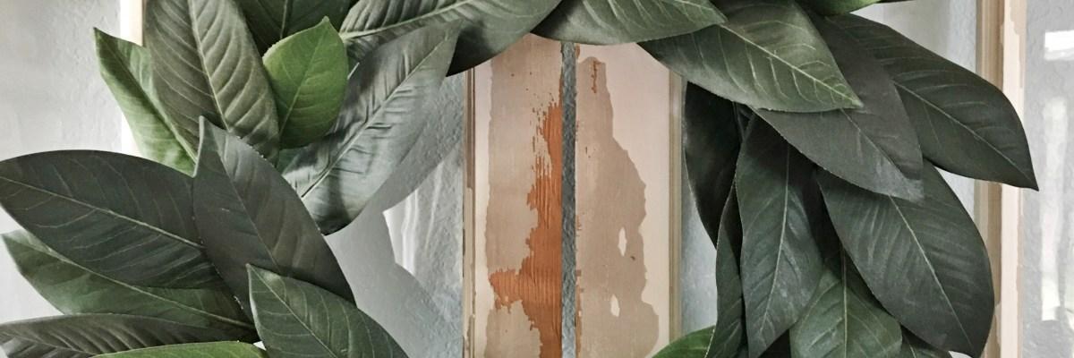 Budget Friendly Fixer Upper Faux Magnolia Wreath DIY