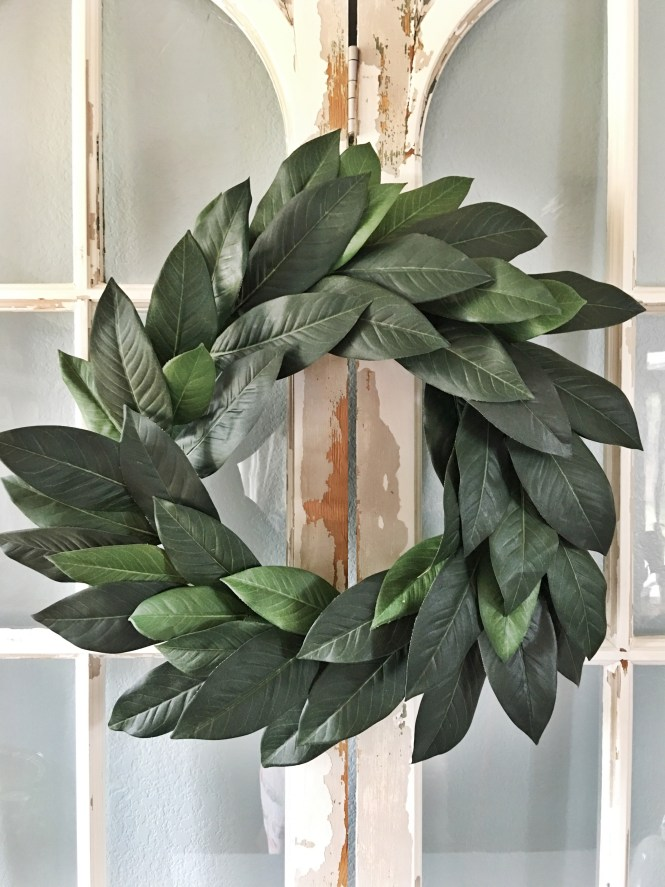 Budget Friendly Fixer Upper Faux Magnolia Wreath Diy Jolly Happy