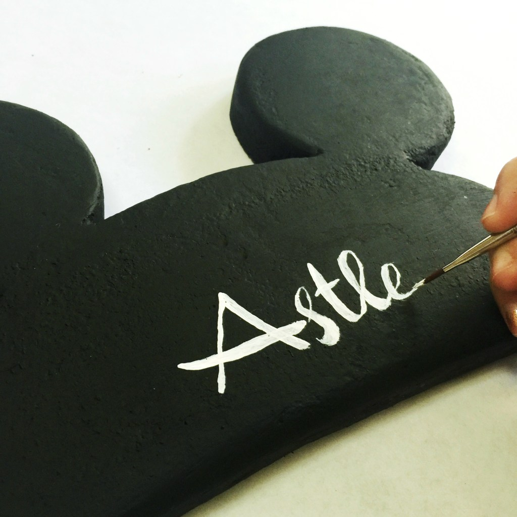 Personalize Mickey Ears Wall Art
