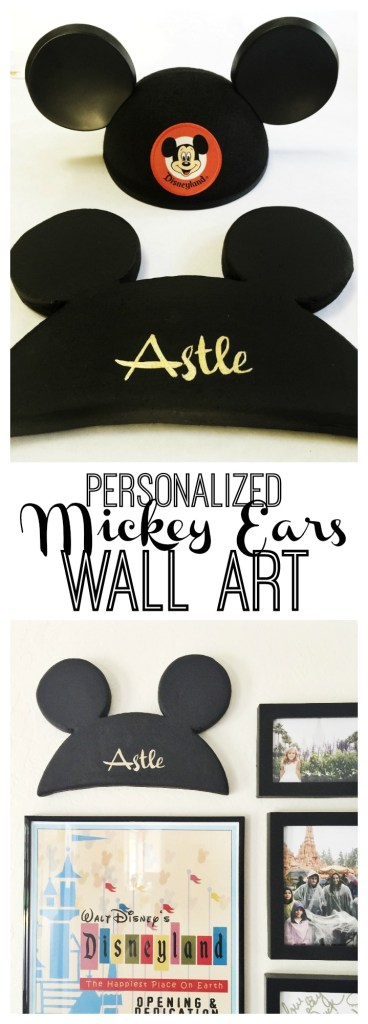 Personalized Mickey Ears Wall Art