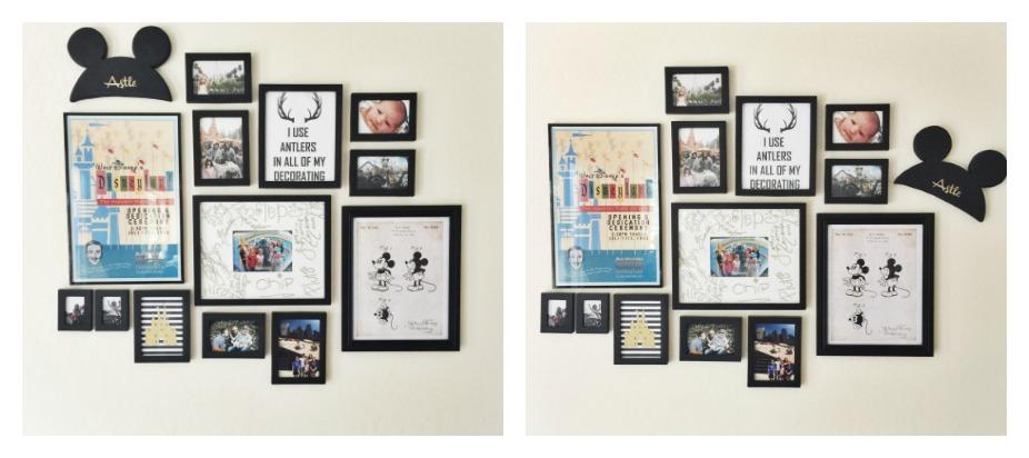 Personalized Mickey Ears Wall Art
