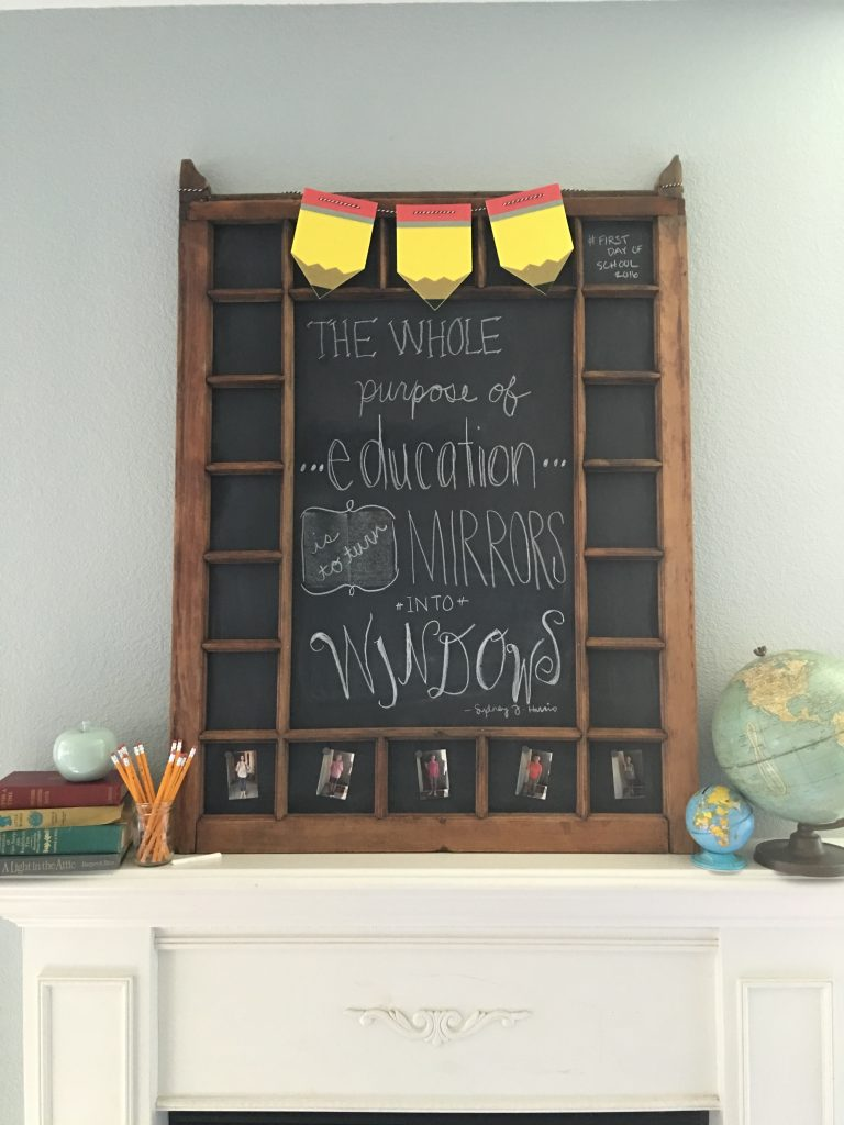 vintage window magnetic chalkboard