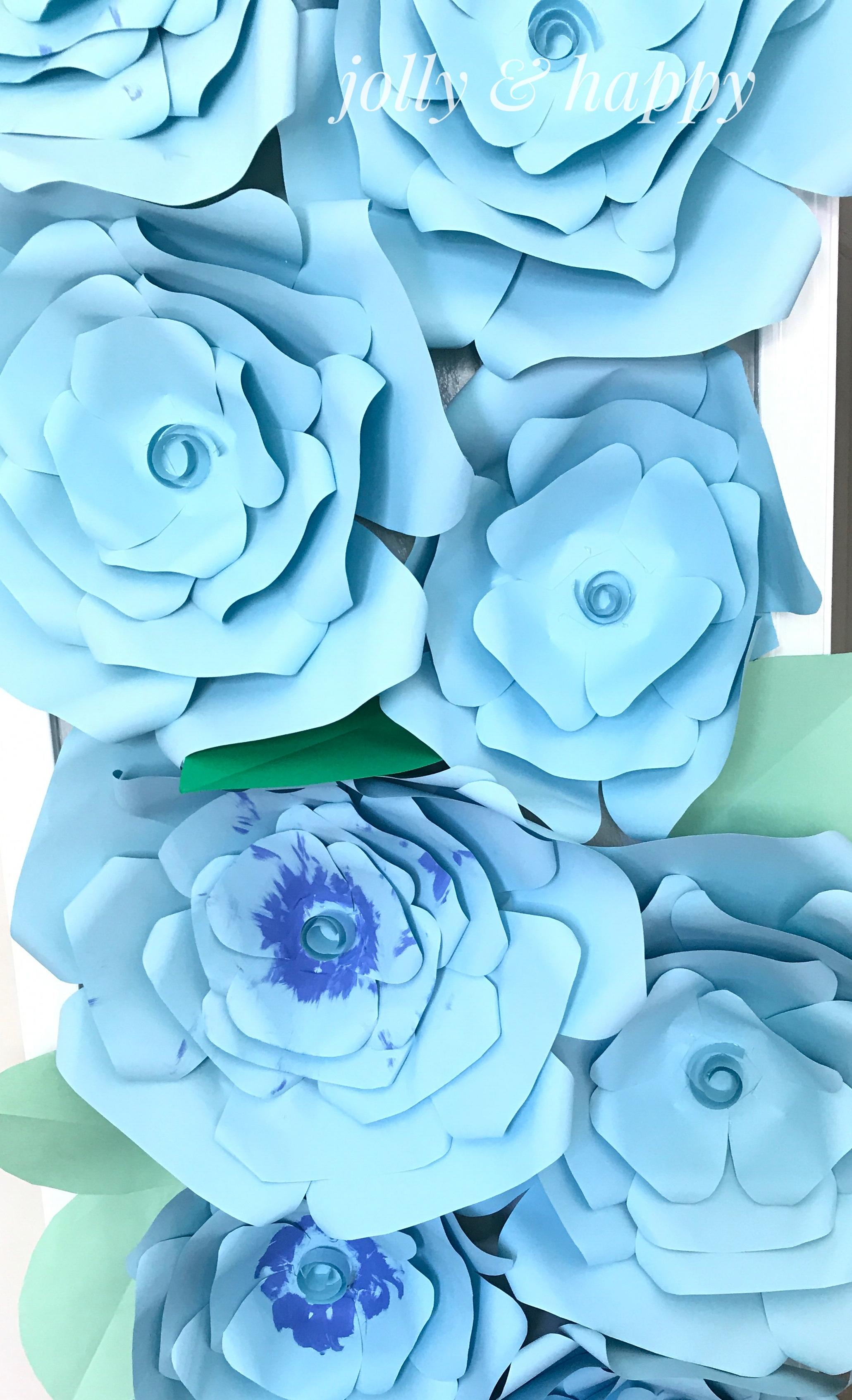 Diy Huge Paper Flowers Jolly Happy
