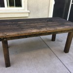 DIY Farmhouse Patio Table